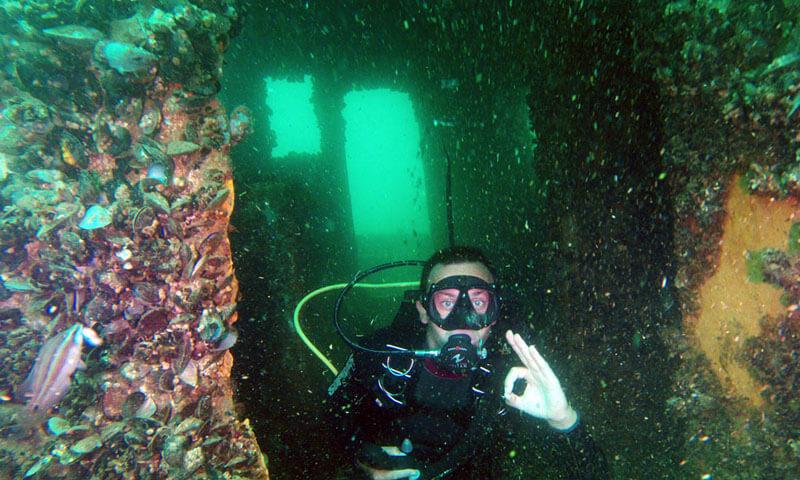 Гмуркане с акваланг в кораб Созопол
