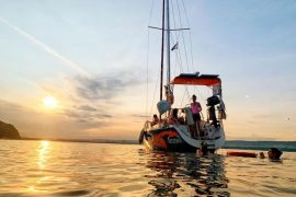 Яхта и залез