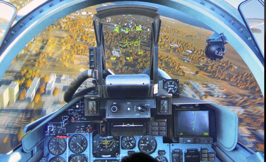 Изглед от пилотската кабина