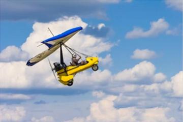 Полет с моторен делтапланер